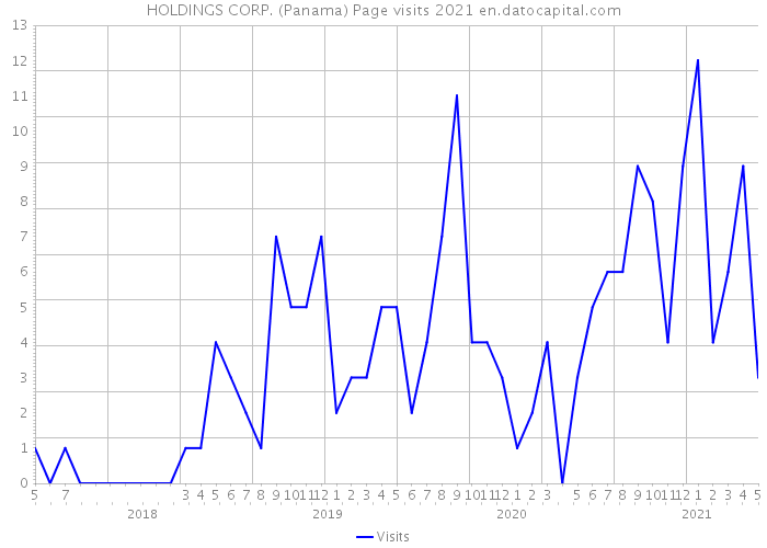 HOLDINGS CORP. (Panama) Page visits 2021